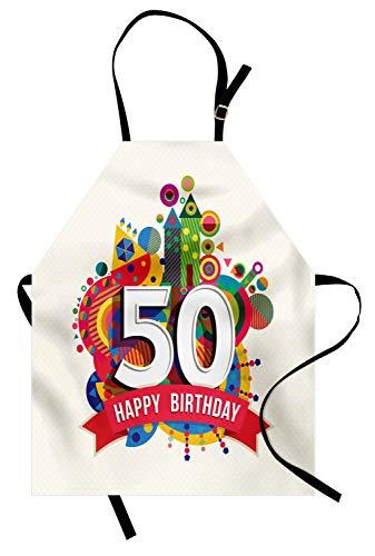 ABAKUHAUS 50 Cumpleaños Delantal de Cocina