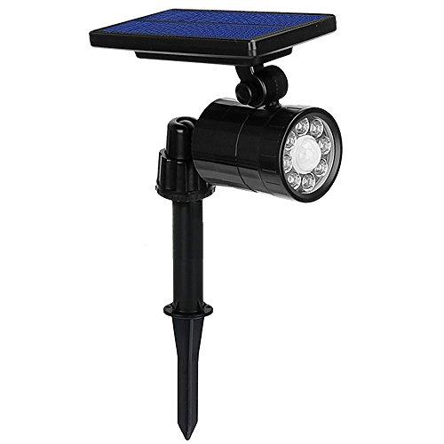 Solarleuchten 8 LED 800 Lumen Sehr Hell Gartenleuchte 4 Modi mit Bewegungsmelder Solar Licht IP65 Wasserdicht 360° Frei Rotiert ABS Großes Außenlicht für Garten, Hof, Garage, Wand, Pathway, Patio