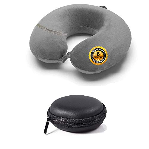 Trajectory Velvet Supercomfy Travel Neck Pillow with Accessories Pocket and Earphone Case(6 Months Warranty)