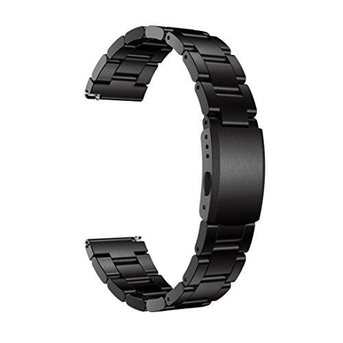 Kaiki für Huawei Watch 2 Armband,Echtes Edelstahl Armband Smart Uhrenarmband für Huawei Watch 2 (Black)