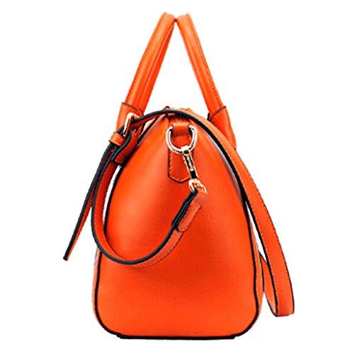MagiDeal Moda Borsa Spalla Borsette da Polso Pochette da Giorno per Donna - Arancia Arancia