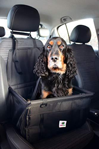 renkii Hunde Autositz kleine mittlere Hunde Welpen Hundesitz Beifahrer und Rückbank schwarz stabil wasserdicht Vlies grau herausnehmbar waschbar Einzelsitz