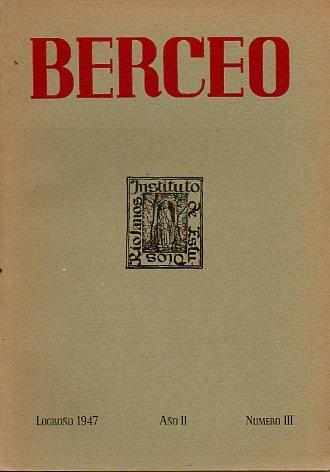 BERCEO. Boletín del Instituto de Estudios Riojanos. Año II. Número III.