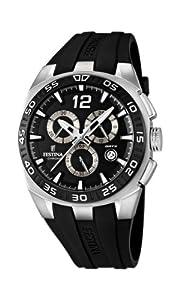 Reloj Festina F16668/6 de cuarzo para hombre con correa de caucho, color negro de Festina