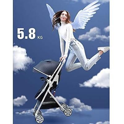 OCYE Silla de Paseo Doble/Silla de Paseo Doble de Dos plazas/Doble para niños y bebés, Cesta de Almacenamiento de Gran tamaño, Cesta de Dormir de Gran tamaño, cinturón de Seguridad de Cinco Punt