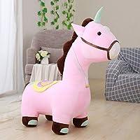 yfkjh Plush toys, horse dolls, dolldolls, children and girls, cute cartoons, birthday presents Angle 1.2m Pony Seat Pink