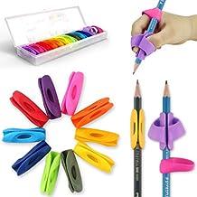 Agarrador de Lápiz, Firesara Nuevo diseño ergonómicas empuñaduras de lápiz de arco iris para niños