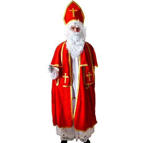 Kostüm Heiliger Nikolaus Deluxe Einheitsgröße Bischof Weihnachten Fasching Karneval