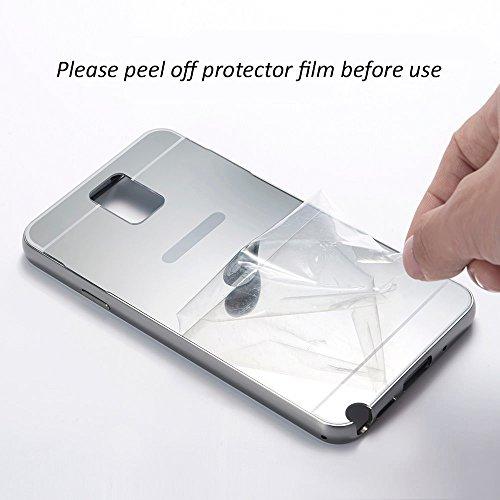 iPhone 5 / 5S / SE / 6 / 6S / 7 - Or Rose Luxe Aluminium Miroir Mince Metal Cas Couverture Pour iPhone 6 / 6S - thinkmobile Argent