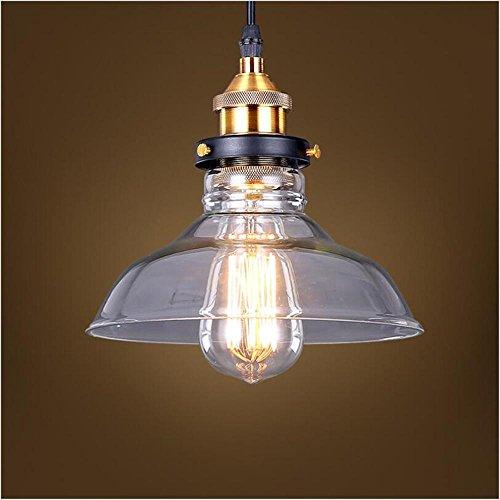 Pendelleuchte europäischen Stil Retro-Industrie Glas Kronleuchter Kronleuchter Schlafzimmer Nachttischlampe Lampe Ganglichter personalisierte kreative Glas Kronleuchter (Personalisierte Metall Nostalgisch)
