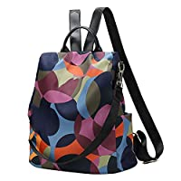 Ayioo Cool Retro Multi-Functional Backpack Large Capacity Nylon Backpack Women Travel Shopping