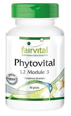 Phytovital L2 Module 3 avec de l'extrait de grenade, du concentré de brocoli, des extraits de myrtilles, d'acérola, de pépins de raisin, de thé vert, de feuilles d'ortie, de ginkgo biloba - 90 gélules