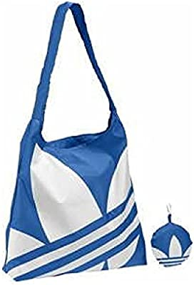 Bolsa Plegabl Adidas AC Pack Shopper Azul Blanco