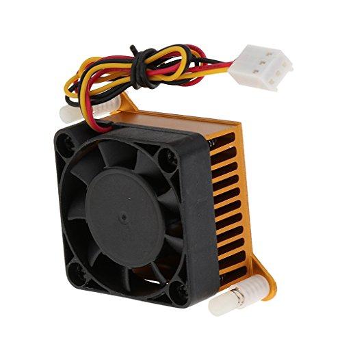 Motherboard-chipsatz-lüfter (D DOLITY Northbridge Southbridge Chipsatz Kühler mit 3 Pin Motherboard Stecker Kühler Lüfter Gehäuselüfter Luftkühlung für Motherboard Abkühlung)