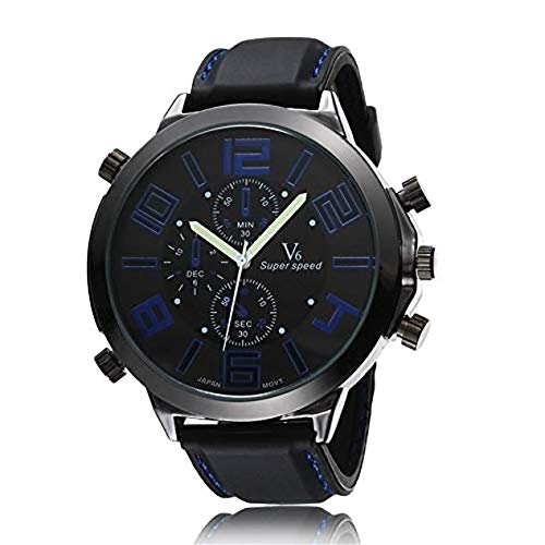 CHENG Men Boy Silicone Large Dial Strap Silicone Watch Mens Kind of Sport and Daily use