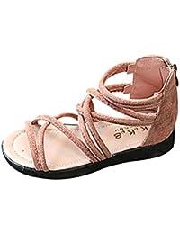 K-youth® Las Sandalias de Vestir Niñas Zapatos de Princesa con Cremallera Sandalias de Punta Abierta Sandalias Zapatos de Playa
