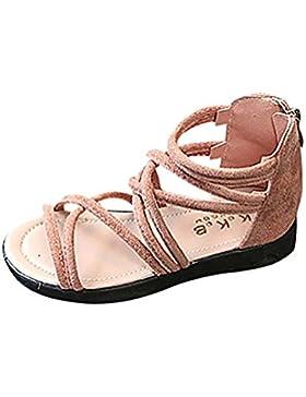 Las Sandalias de Vestir Niñas Zapatos de Princesa con Cremallera Sandalias de Punta Abierta Sandalias Zapatos...