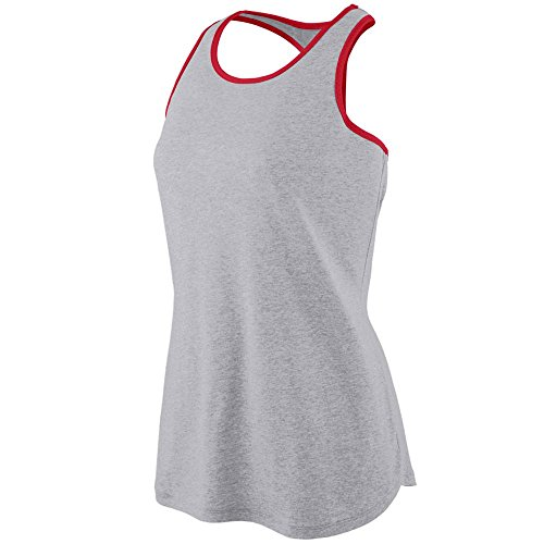Augusta Sportswear Women'S Rave Henley Xs Athletic Heather/Red Augusta Sportswear Henley