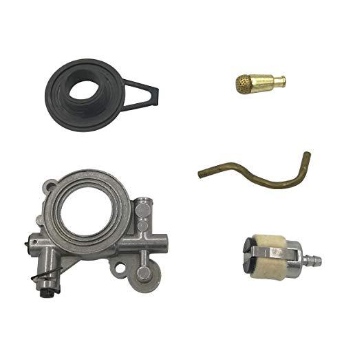 Cancanle Ölpumpe, Schneckengetriebe, Ölschlauch, Filter-Set für Husqvarna 365 371 372 XP 372XP 362 Kettensäge Whole Set
