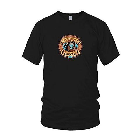 LeChuck's Grog - Herren T-Shirt, Größe: L, Farbe: schwarz