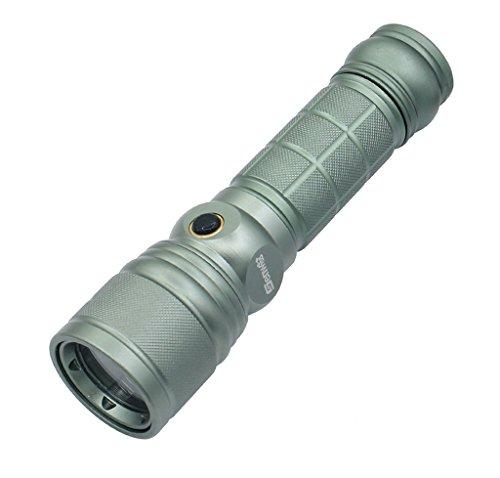 Wolfway 2000 lumen XM-L T6 dello zoom della Torcia elettrica del CREE Q5 LED viola luce ultravioletta della Torce elettrica Ambra + 2x4200mAh 18650 + Caricabatterie