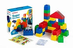 Miniland 32470 Kim Bloc - Caja con bloques de construcción grandes (40 piezas) Importado de Alemania