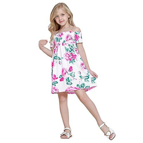 YueLove Kleinkind Kind Baby Kleid Kleidung Mädchen Einfarbig Kurzarm Strampler Prinzessin Neugeborenes Kleidung Cocktailkleid Partykleid (Kleinkind Rainbow Kostüme)
