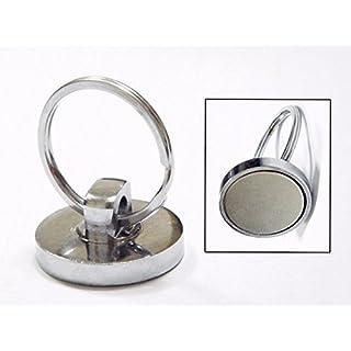 aomag Super Starke Neodym-Magnet hält 35lbs gesintert NdFeB Magnetic Haken (2Stück) (Split Ring)