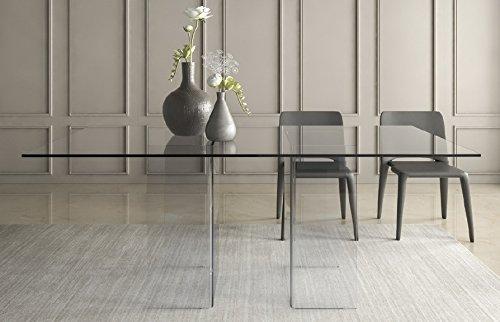 Tavolo da soggiorno in vetro. Tavolo da ufficio riunioni ...