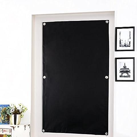Auralum® 60*93cm Store Occultant avec Ventouse Rideau Noire pour Fenêtre