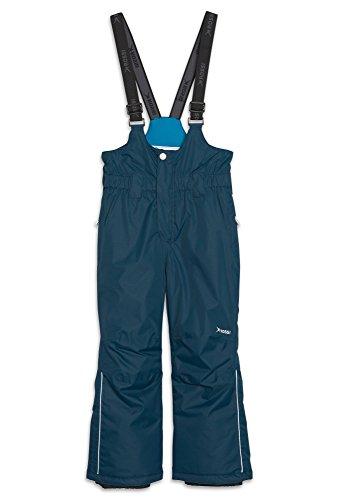 ROSSI Jungen Skihose mit Latz Ski-Hose Kinder Schnee Winter Funktion Sport dunkelblau,104