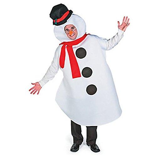 Schneemann Erwachsene Kostüm Olaf Halloween Weihnachten Winter Weihnachts Frozen Herren Snow, Weiß, 16-04-04-03Bx