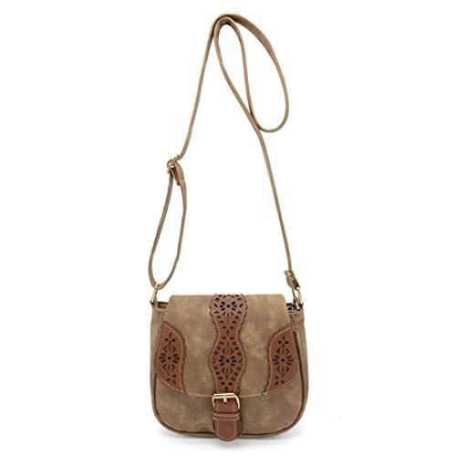 Transer Women Shoulder Bag Popular Girls Hand Bag Ladies PU Leather Handbag, Borsa a spalla donna Green 20cm(L)*18(H)*8cm(W) Khaki