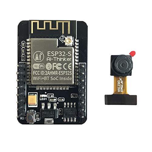 Esp32-Kameramodul-Entwicklungsplatine, Ov2640 / OV7670-Kamera-Bluetooth-Wifi 2Dbi-Antenne Bluetooth 4.2 BR/EDR BLE Standard-Mini-Kamera-Board(Schwarz) Mini-board-kamera