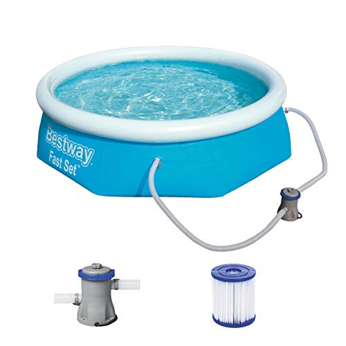 Bestway Fast Set Pool rund mit Filterpumpe und selbstaufbauend, 244x66 cm