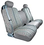 Automotive Innovations Gray : Saddleman Custom Made Front Bench / Backrest Seat Cover - Saddle Blanket Fabric (Gray)