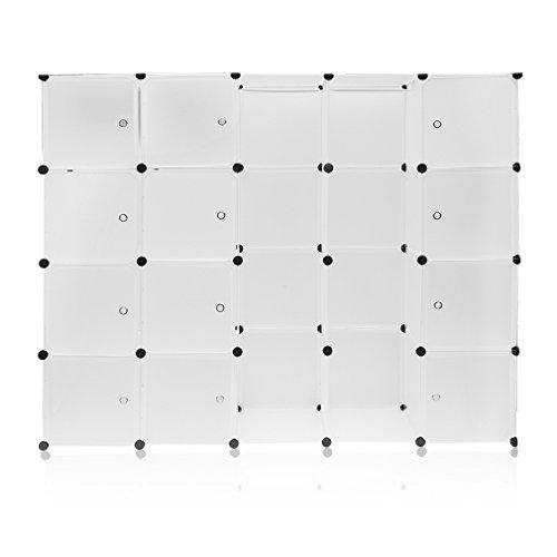 Blackpoolal 20 Boxen Kleiderschrank Organizer Stecksystem Garderobenschrank Steckregalsystem mit...