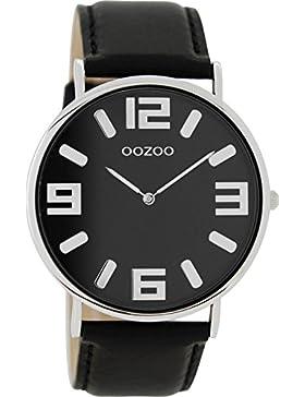 Oozoo Vintage Damenuhr Lederband 42 MM Schwarz/Schwarz C8844