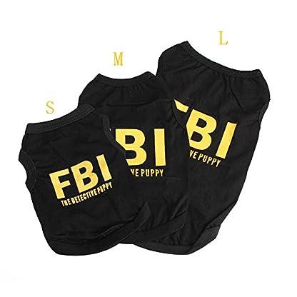 SZTARA Law Enforcement Pet Dog Puppy Vest T-Shirt Policeman Justice Agent Coat Pet Clothes Summer Apparel Cosplay Party… 2