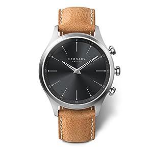 KRONABY SEKEL Connected Herren Uhren A1000-3123 eine traditionelle Uhr mit Smartwatch Funktionalitäten 41 mm Gehäusedurchmesser Saphirglas 100 M wasserdicht
