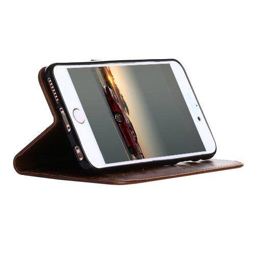 F8Q Prime Wallet Card en cuir de luxe flip stand couverture de cas pour Apple iPhone 5 SE violet