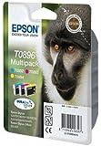 3 x Epson Patronen für Epson Stylus SX 405 WiFi, Multipack (je 1x C, M, Y) Druckerpatronen für SX405WiFi, 10, 5ml