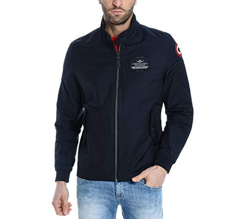 Aeronautica militare luxury fashion uomo ab1739ct241708184 blu giacca outerwear | primavera estate 19