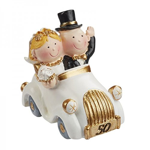 Wedding couple of gold wedding 50 couple years in the car decorate cakes, wedding 5,5 cm