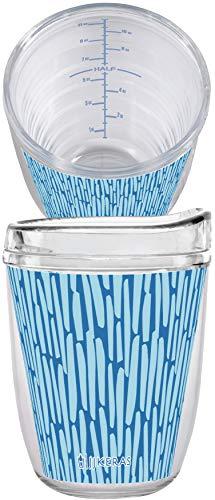 JJ Keras Collection by Kompass Trinkbecher, inkl. klarem Tritan-Deckel mit MiLiOZ Innenmesssystem, B-Stripe Art Design, 1 Stück 12 ounce - 2 Pack B-Stripe/Clear Lid