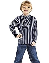 """Fischerhemd für Kinder breit gestreift """"Basic"""" von Modas alle Größen"""