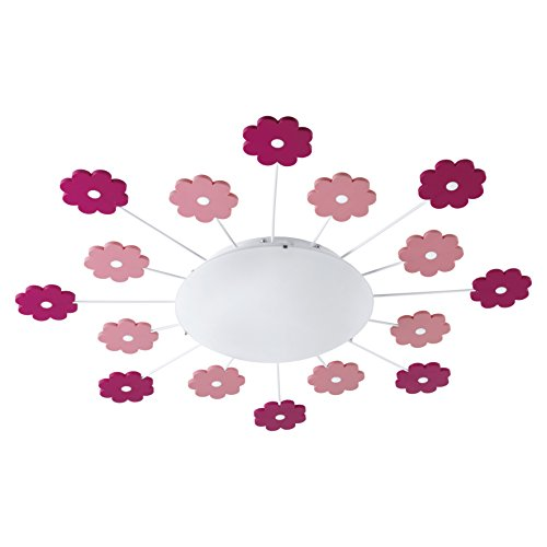 Eglo VIKI 1 E27 60W Pink - ceiling lighting (Children's room, Pink, IP20, White, Round, Steel)