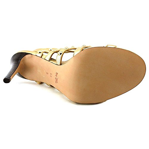 Coach Rose Metallic Tumbled Damen Leder Sandale Brass