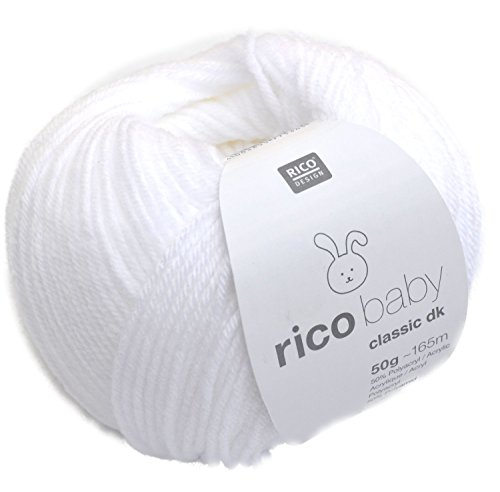 Rico Design rico baby classic dk Strick- und Häkelgarn Babywolle weiss -