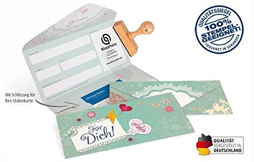 """10 Gutscheinkarten - Geschenkgutscheine für Einzelhandel, Kinder, Spielwaren, Ostern, Bastel-Bedarf, Kunst-Gewerbe, Konditorei, vintage, shabby - Gutscheinkarte Classic\""""happy birds\"""""""